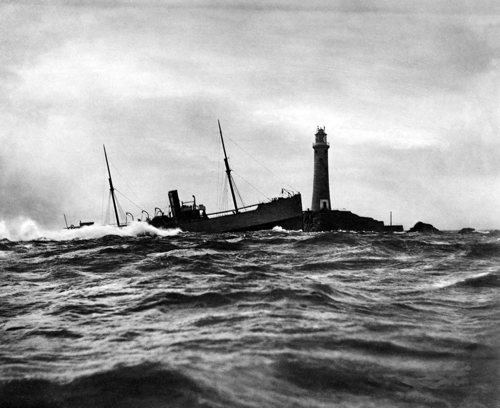 SS Blue Jacket (United Kingdom) November 1898: She was unaccountably wrecked on a clear night a few yards from the Longships lighthouse, Lands End, Cornwall.