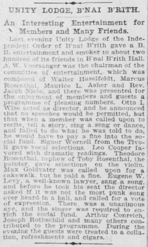 """The most punk song ever heard in a hall,"" 1899 (Source: San Francisco Call)"