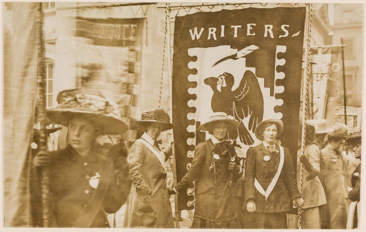 Mary Lowndes suffrage art for the Artists' Suffrage League