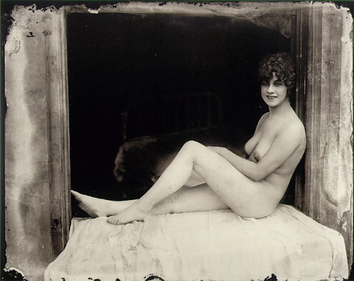 E. J. BELLOCQ (1873–1949) New Orleans (Nude on a Wicker Chaise), Storyville c. 1911–1913