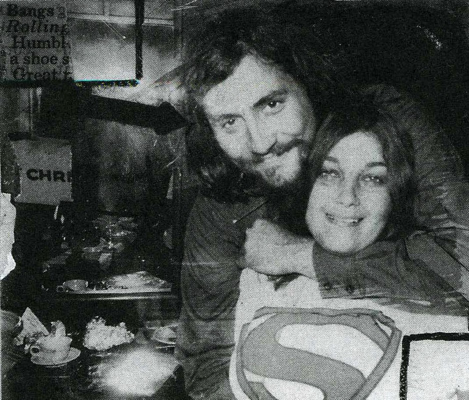 Lester Bangs and Lillian Roxon (Source: Robert Milliken, Lillian Roxon: The Mother of Rock)