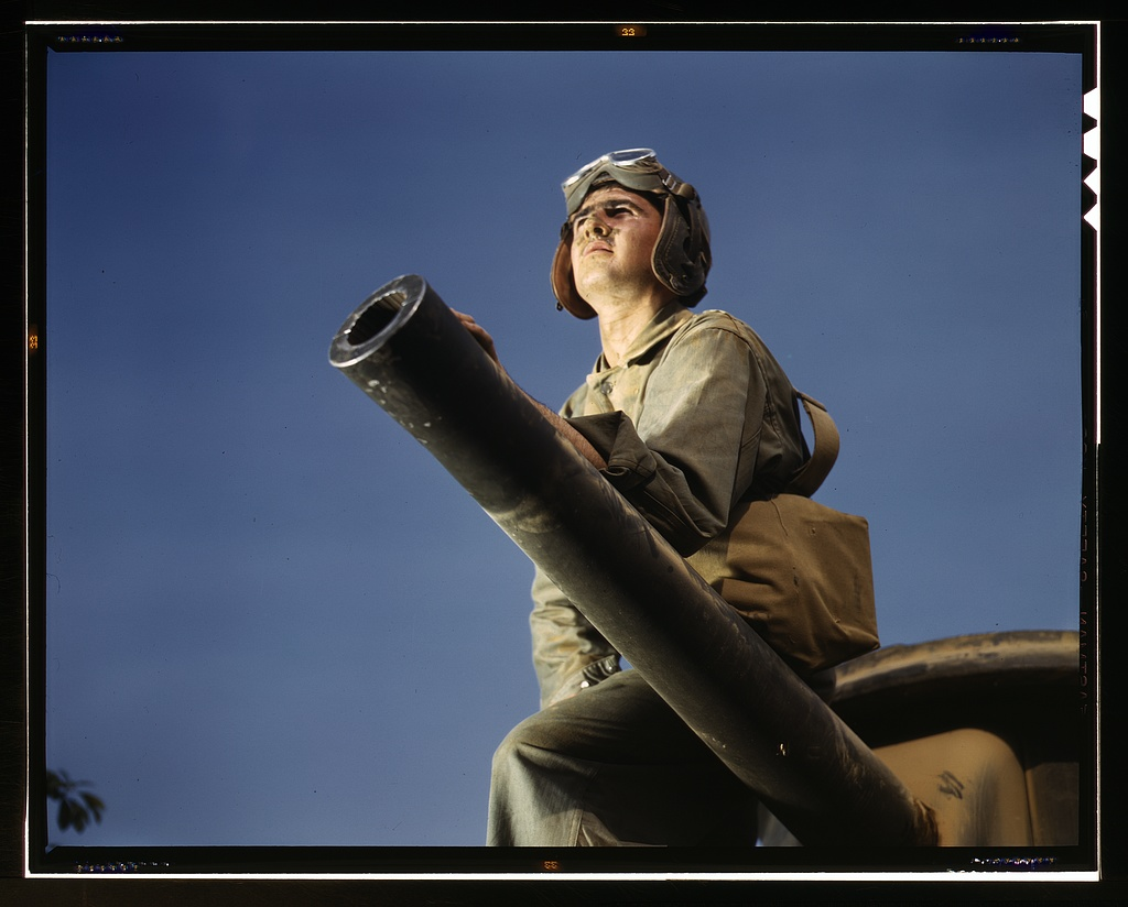 Title- Crewman of an M-3 tank, Ft. Knox, Ky. Creator(s)- Palmer, Alfred T., photographer Date Created:Published- 1942 June