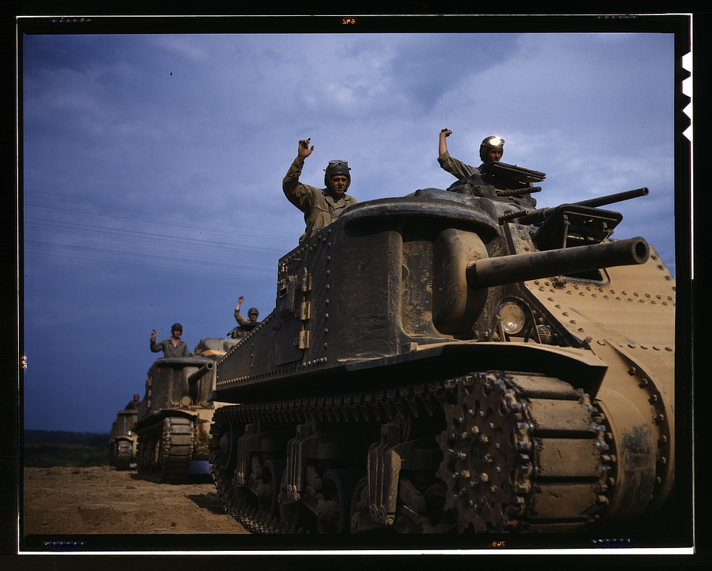 Title- M-3 tank, Ft. Knox, Ky. Creator(s)- Palmer, Alfred T., photographer Date Created:Published- 1942 June