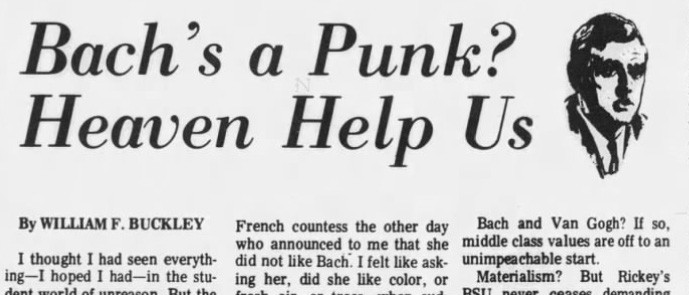 William Buckley's Los Angeles Times column, as it appeared in The Billings Gazette, Montana, 31st March 1969