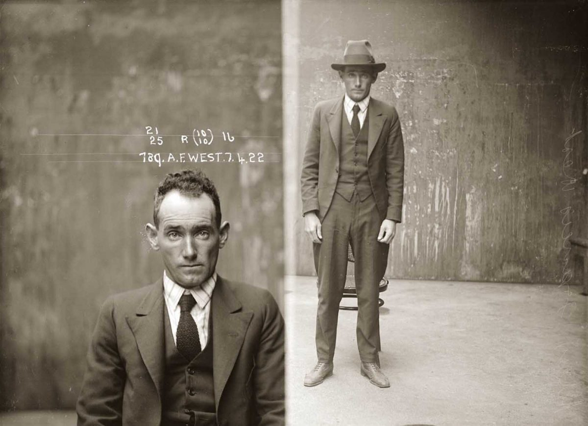 Alfred John (or Francis) West. 1922. West is mentioned in the NSW Criminal Register as a 'pickpocket and spieler'