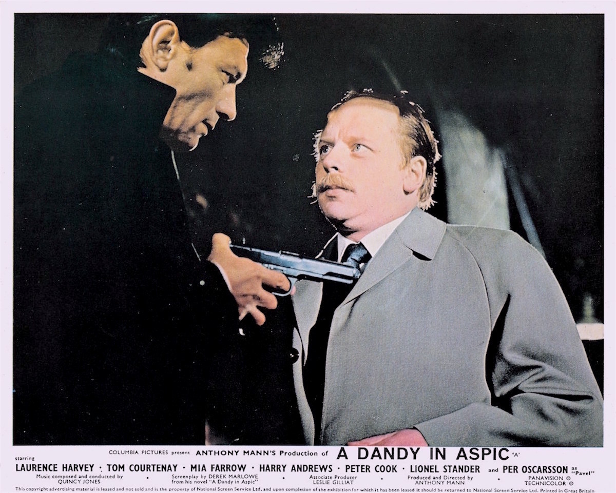 A Dandy in Aspic, Laurence Harvey, John Bird, Derek Marlowe