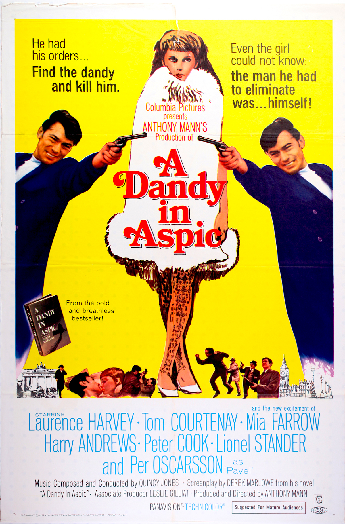 A Dandy in aspic, Mia Farrow, Laurence Harvey, Derek Marlowe