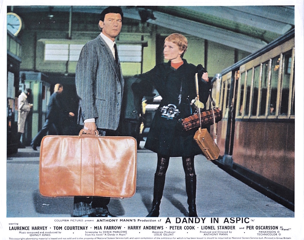 A Dandy in Aspic, Anthony Mann, Derek Marlowe, Laurence Harvey, Mia Farrow