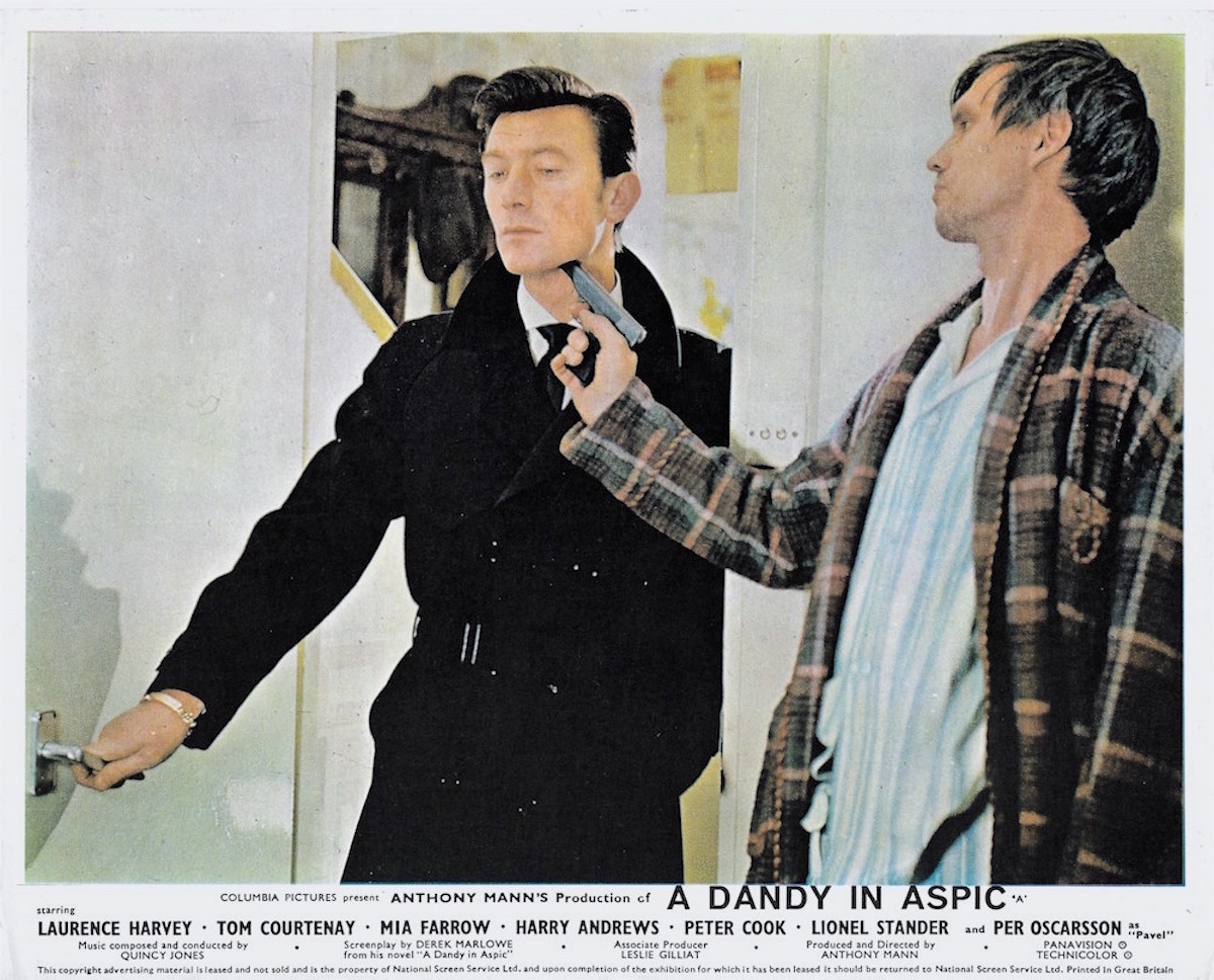A Dandy in aspic, Laurence Harvey, Anthony Mann, Derek Marlowe