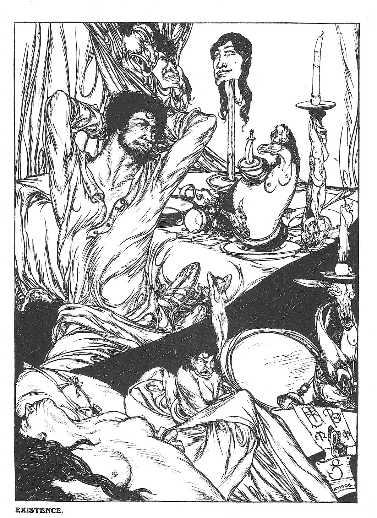 Austin Osman Spare, illustration, occult, Book of Satyrs