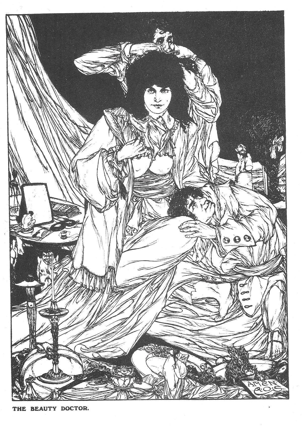 Austin Osman Spare, occult, illustration, Book of Satyrs