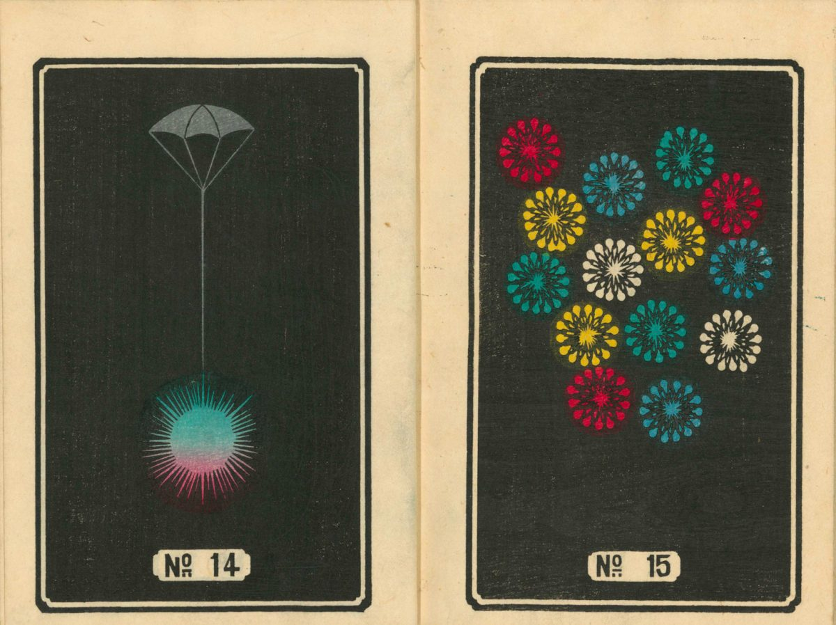 219th Century Firework illustrations from Japan