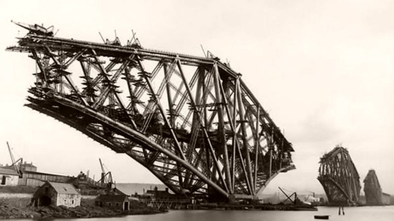 Forth Railway Bridge under construction
