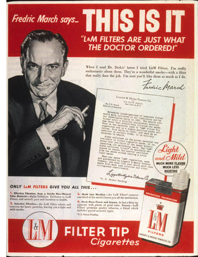 tobacco doctors endorsements advertising L&M