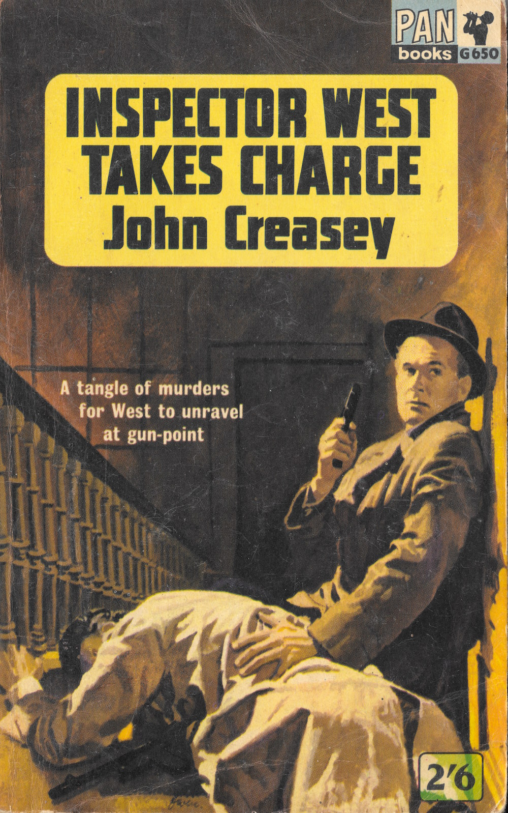 John Creasey, books, art, thriller, Pan Books