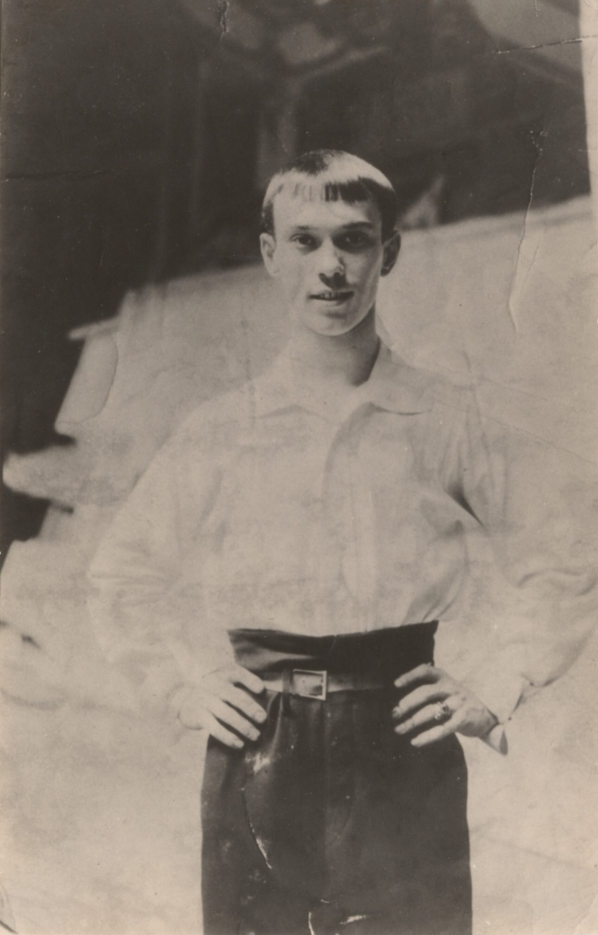 Nijinsky in practice clothes, 1908