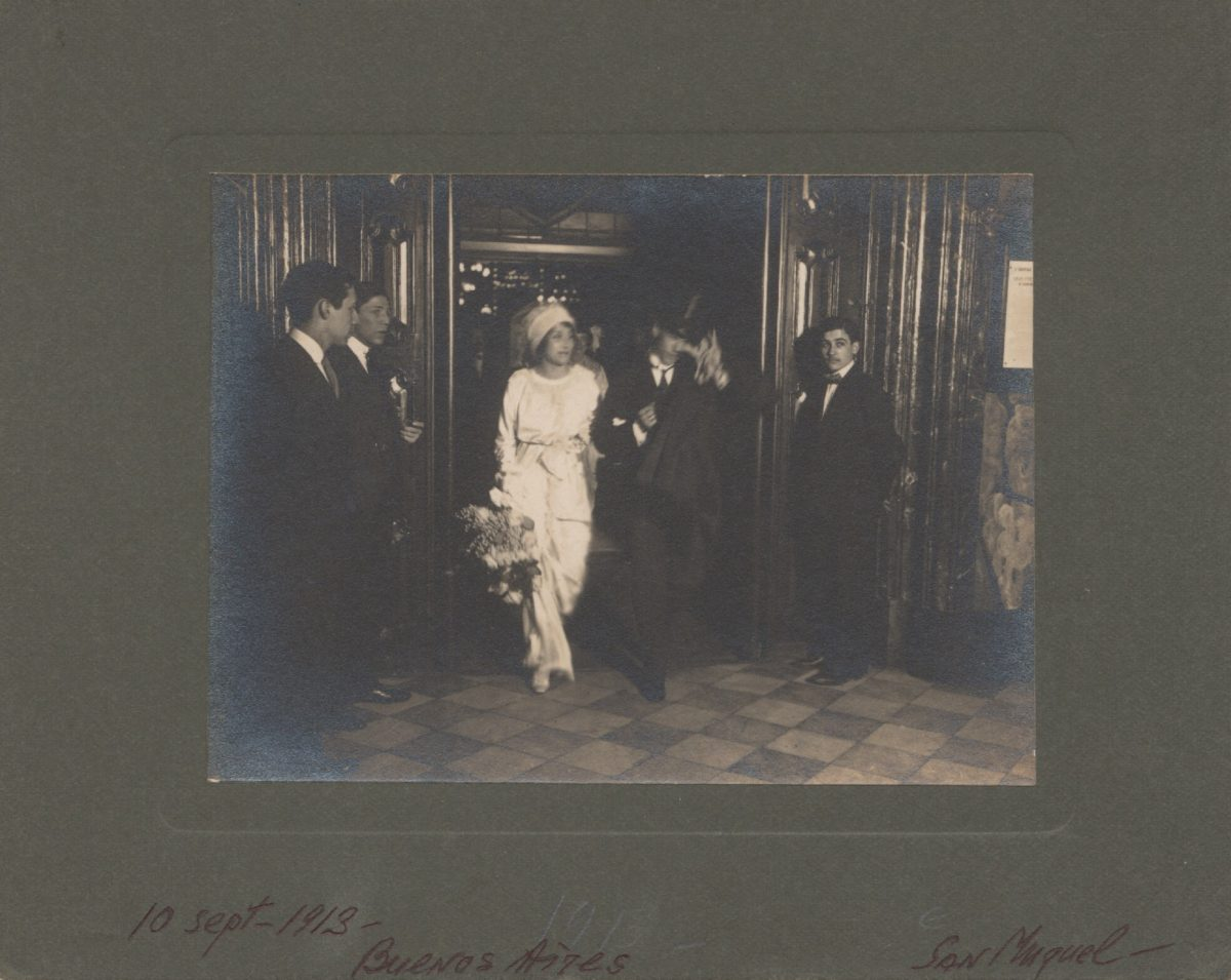Vaslav Nijinsky and Romola de Pulszky on their wedding day, 1913