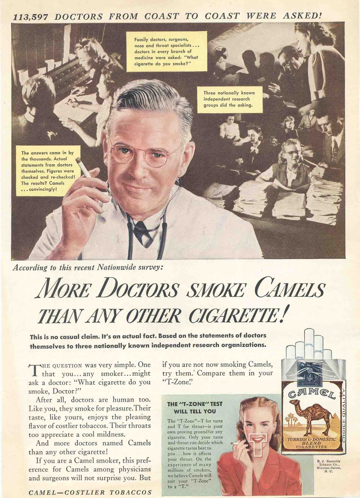 tobacco doctors endorsements advertising