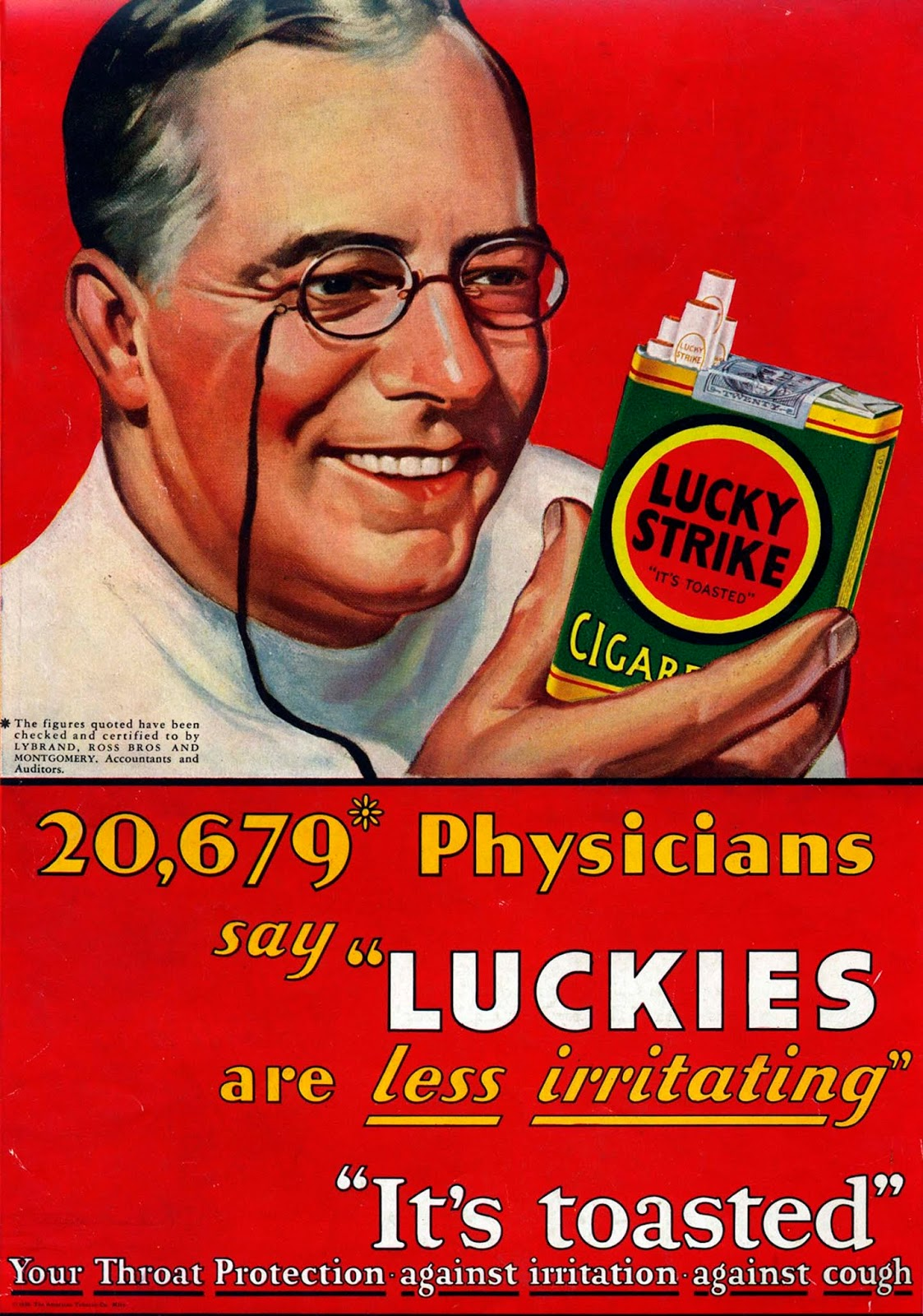 tobacco doctors endorsements advertising Lucky Strike
