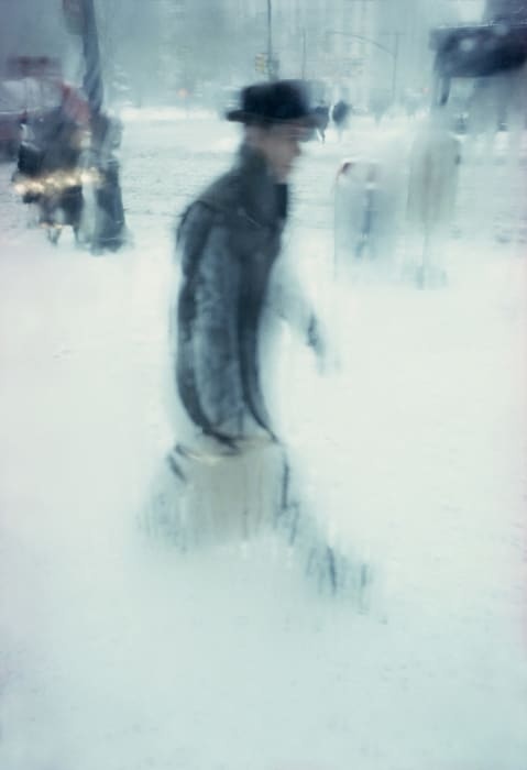 New York Saul Leiter snow rain winter