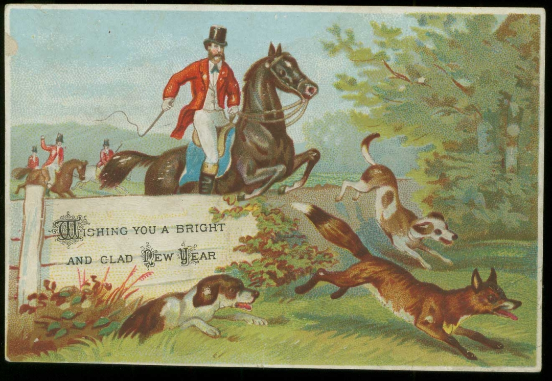 A Victorian New Year card (via Bolton Council)