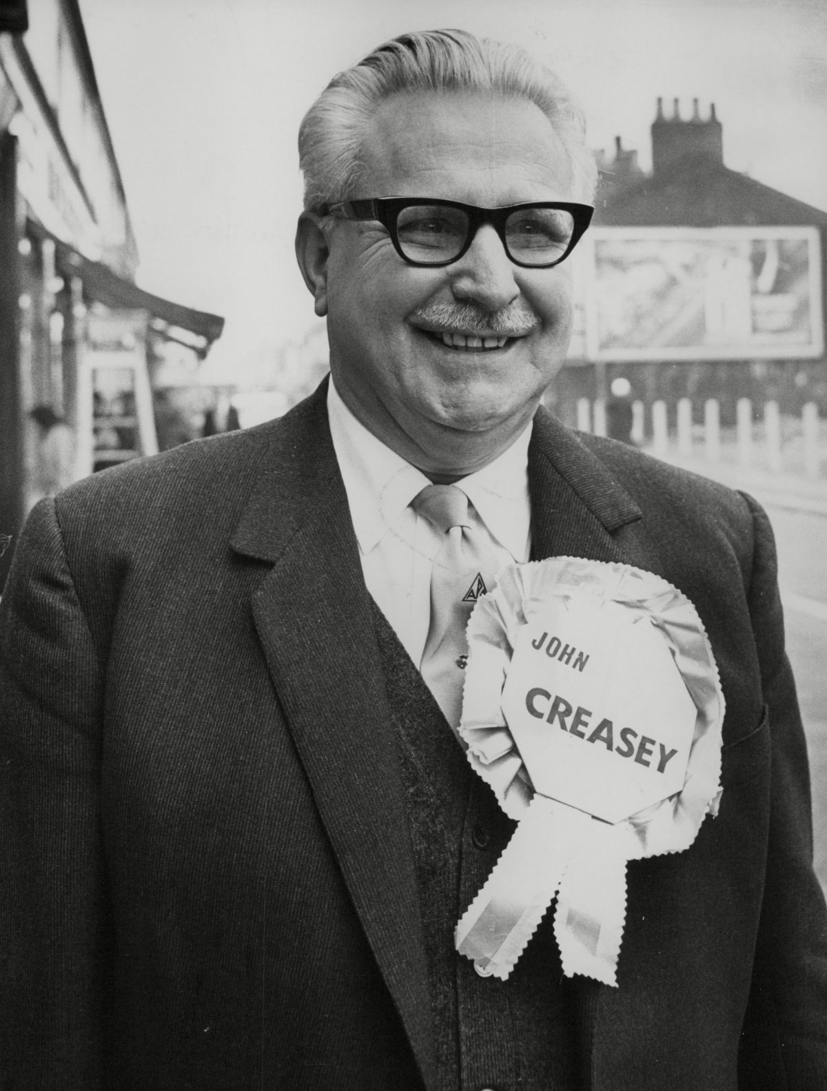 John Creasey Author & Writer Campaigning For The All Party Alliance At The Gorton By-election. 31 Oct 1967
