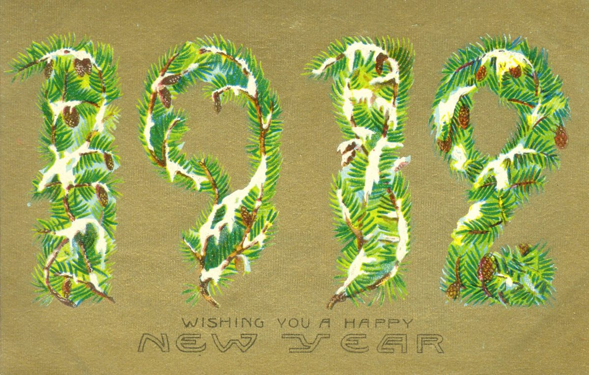 vintage New Year greeting cards