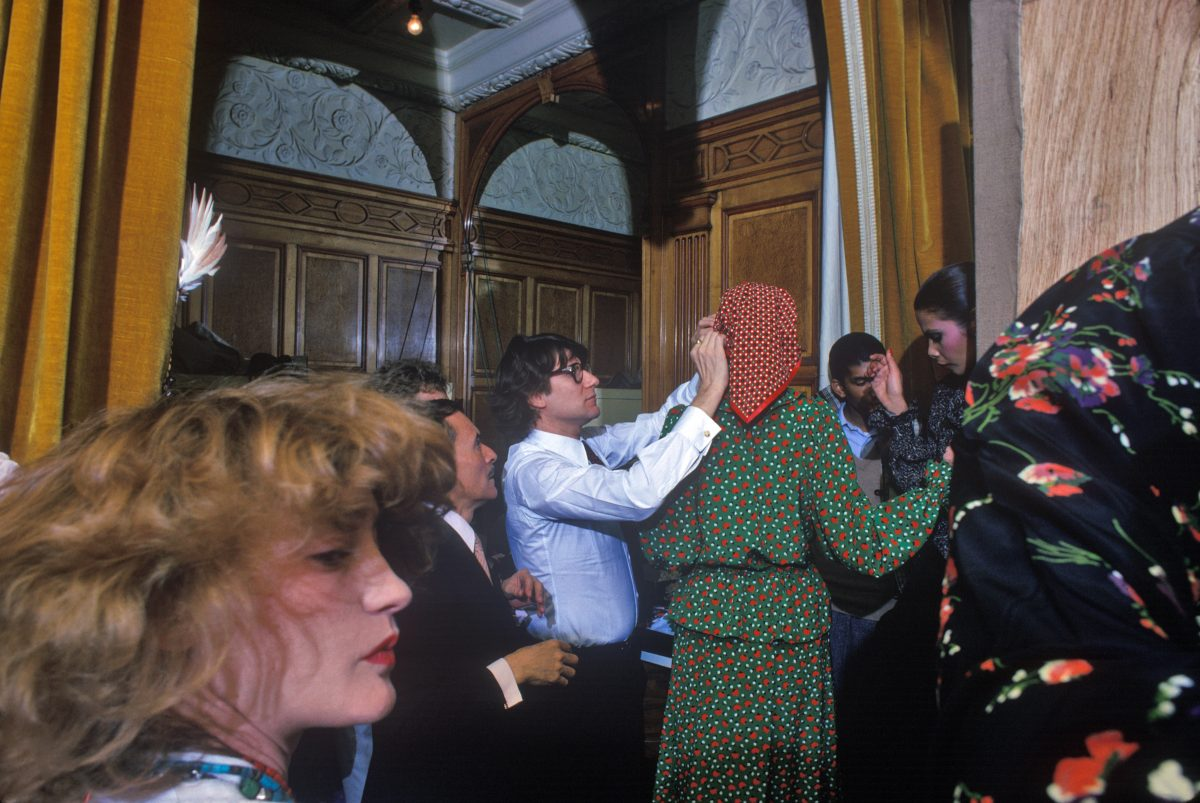 Yves St Laurent and his muse Loulou de la Falaise (foreground), Paris, 1973 harry benson