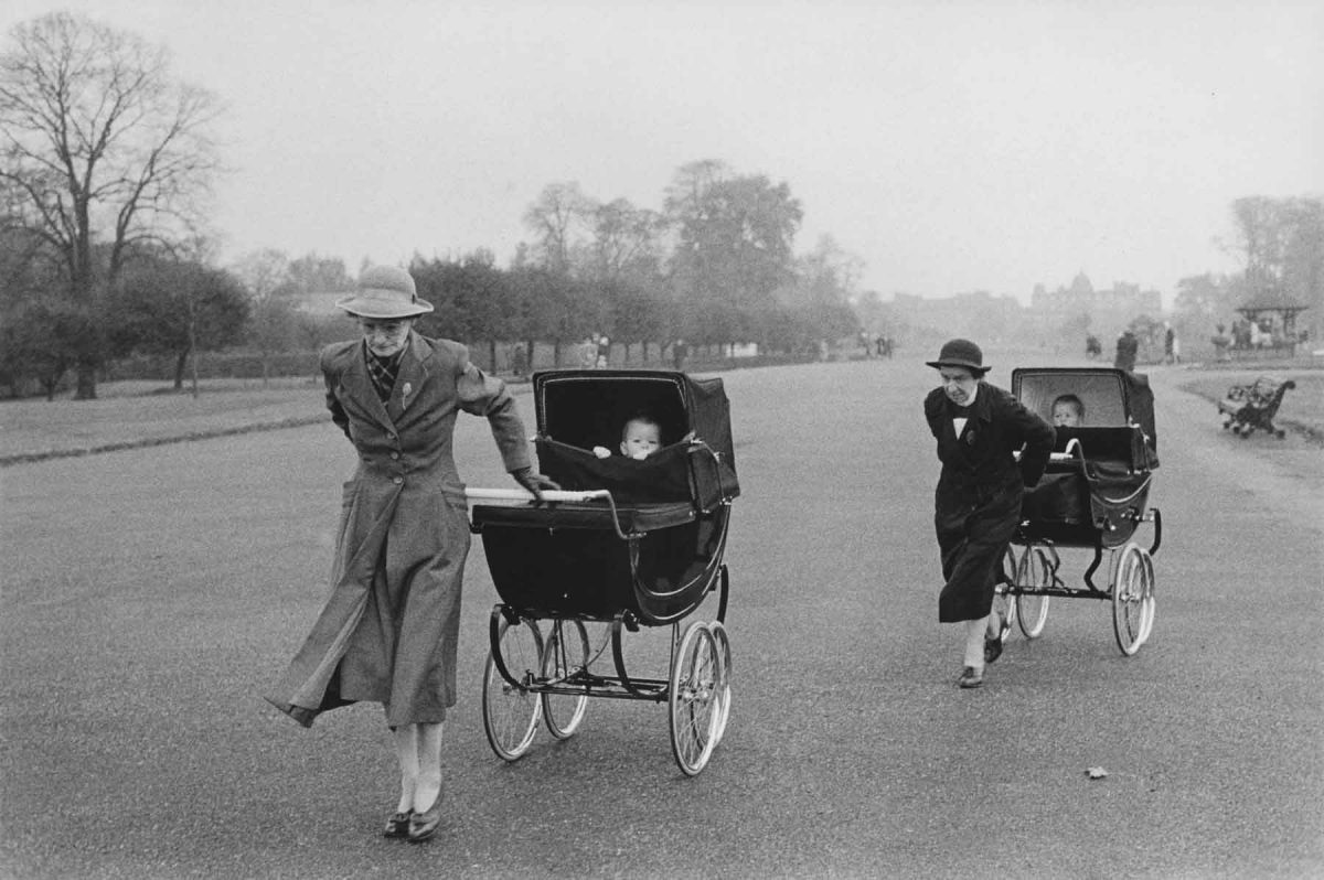 Two Nannies Pulling Buggies, England, 1960 Bruce Davidson