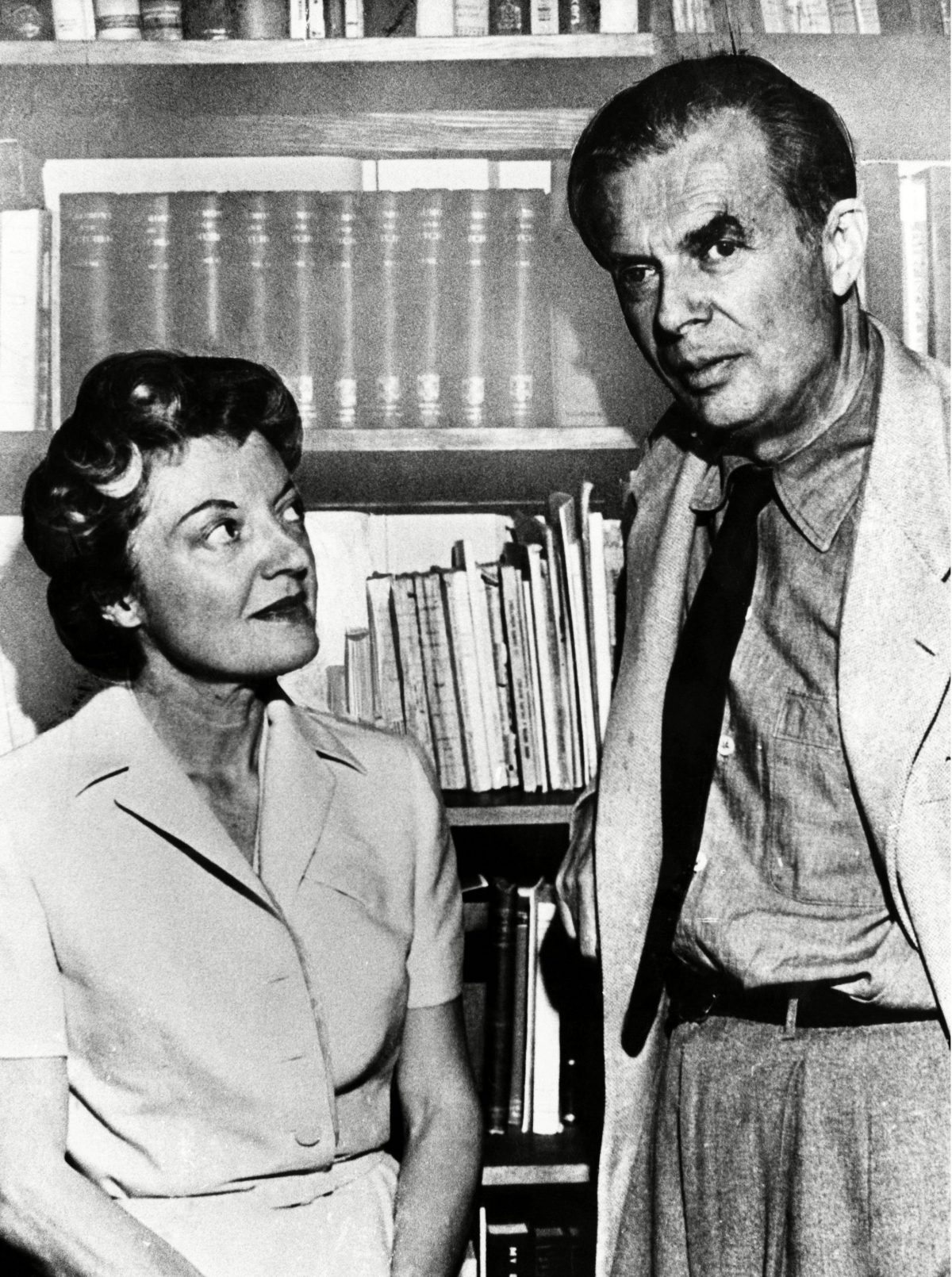 British author Aldous Huxley, and his second wife, Laura Archer, ca. 1960