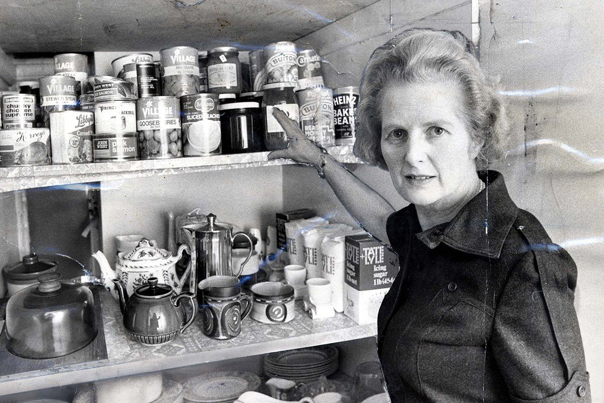 Margaret Thatcher after being elected as British Conservative Party Leader in February 1975