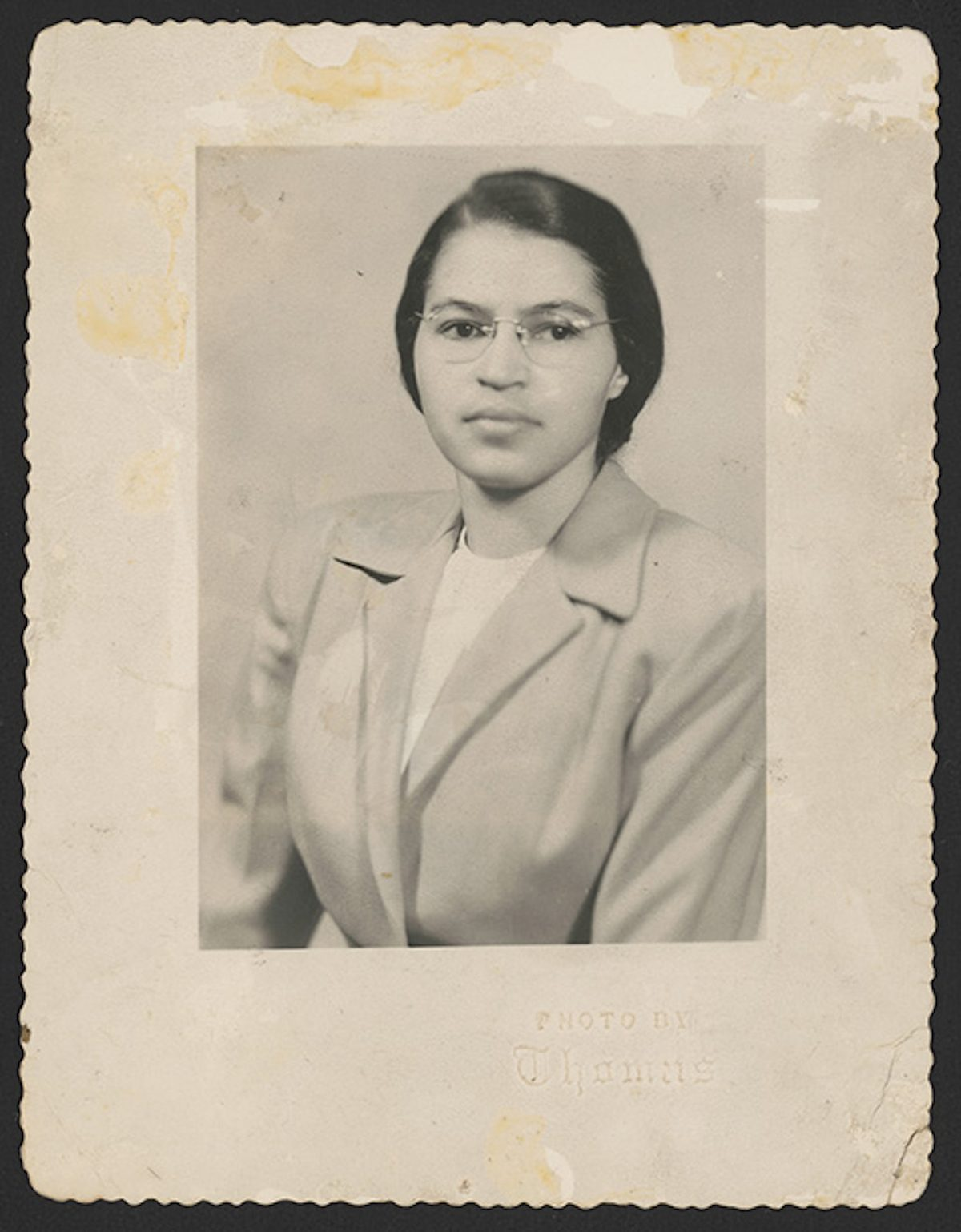 Portrait of Rosa Parks in 1950