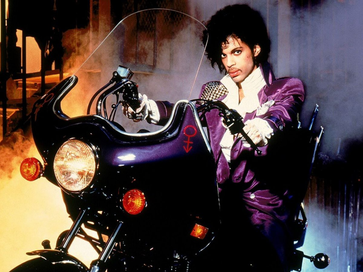 Prince on his Purple Rain motorcycle