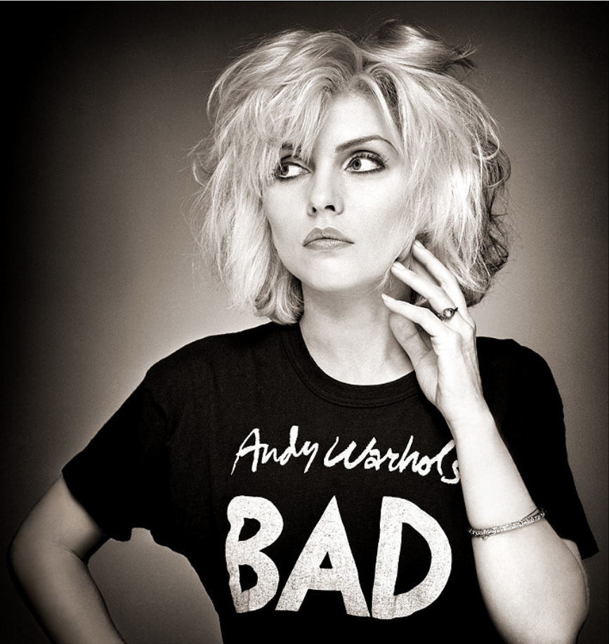 Debbie Harry, Andy Warhol's Bad T-Shirt, Old Street Studio, London 1979.