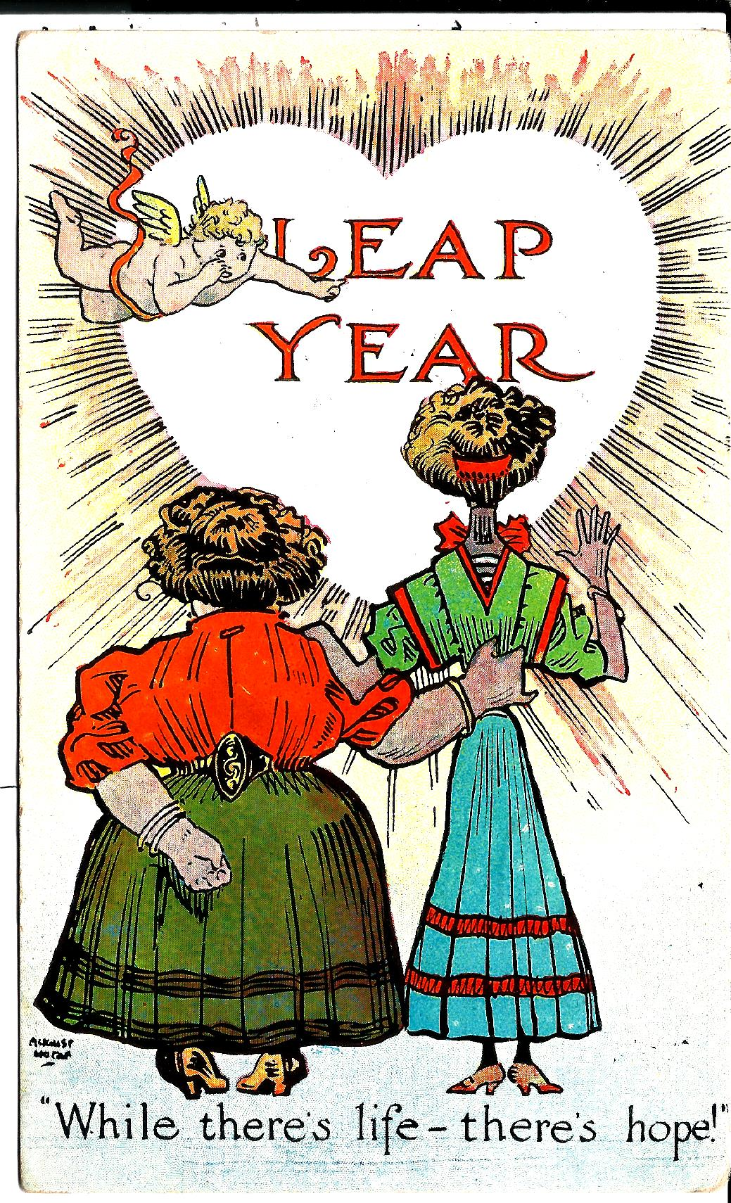 vintage leap year cards and postcards