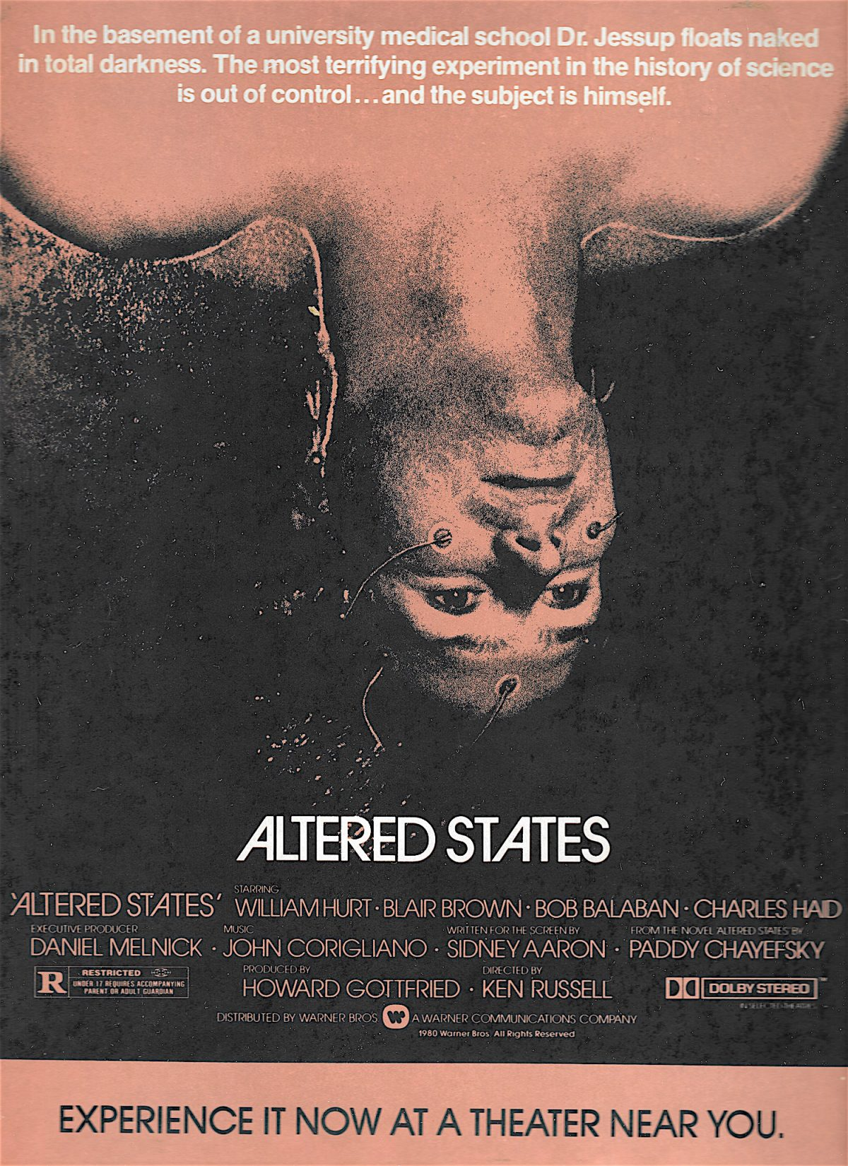 Ken Russell, Altered States, William Hurt
