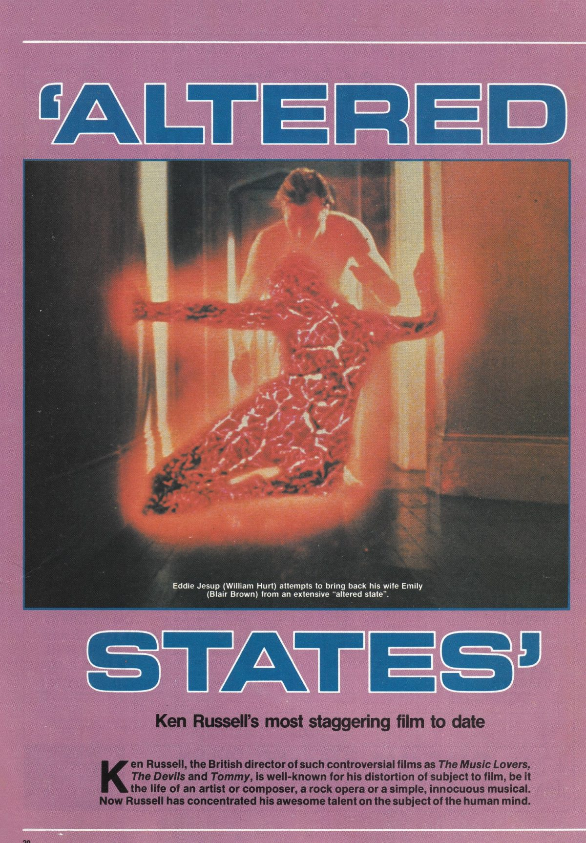 Ken Russell, Altered States, film