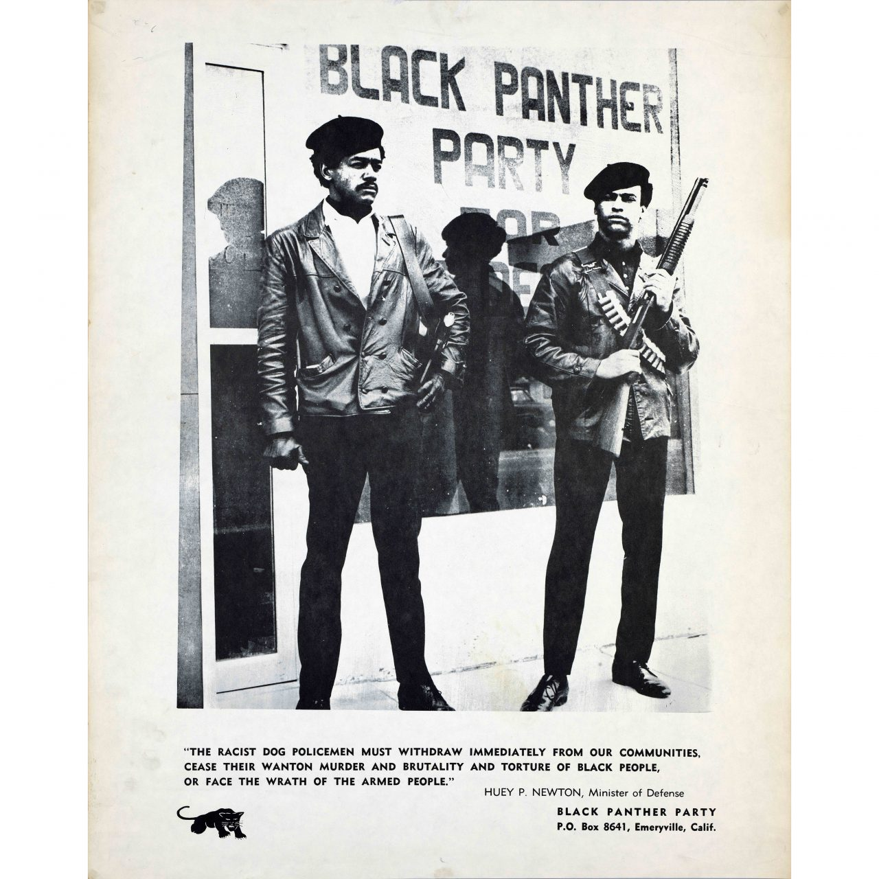Black Panther /& Brown Berets poster #1