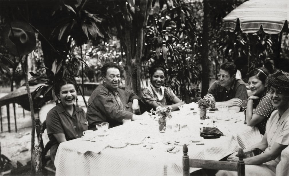 Frida and Diego with friends, anonymous photographer, c1945.