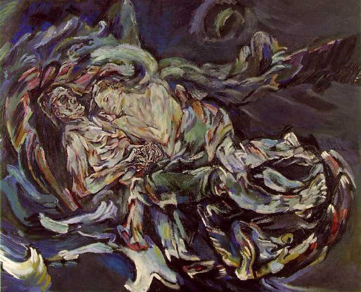 The Bride of the Wind (Die Windsbraut) (or The Tempest) is a 1913–1914 painting by Oskar Kokoschka. The oil on canvas work is housed in the Kunstmuseum Basel. Kokoschka's best known work, it is an allegorical picture featuring a self-portrait by the artist, lying alongside his lover Alma Mahler.