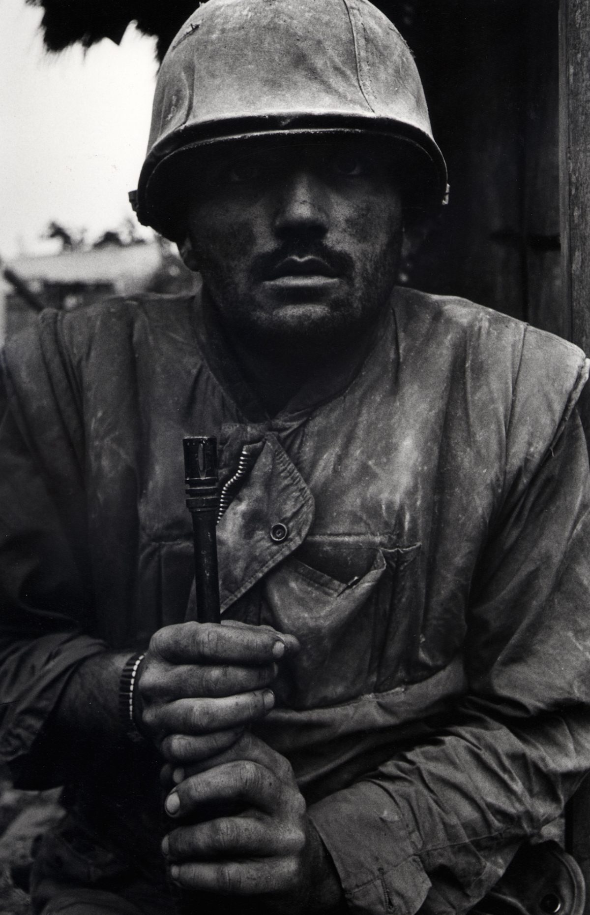 Shell Shocked US Marine, Hue, Vietnam, 1968