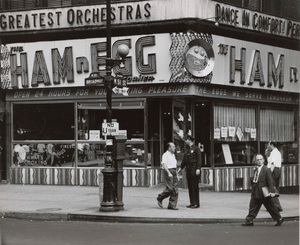 The Ham n Egg on Broadway, New York City Weegee 1953/4