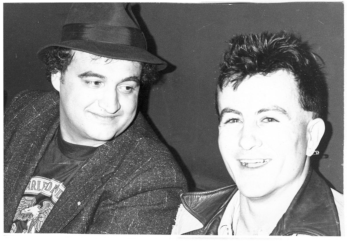 John Belushi with Fear's Lee Ving