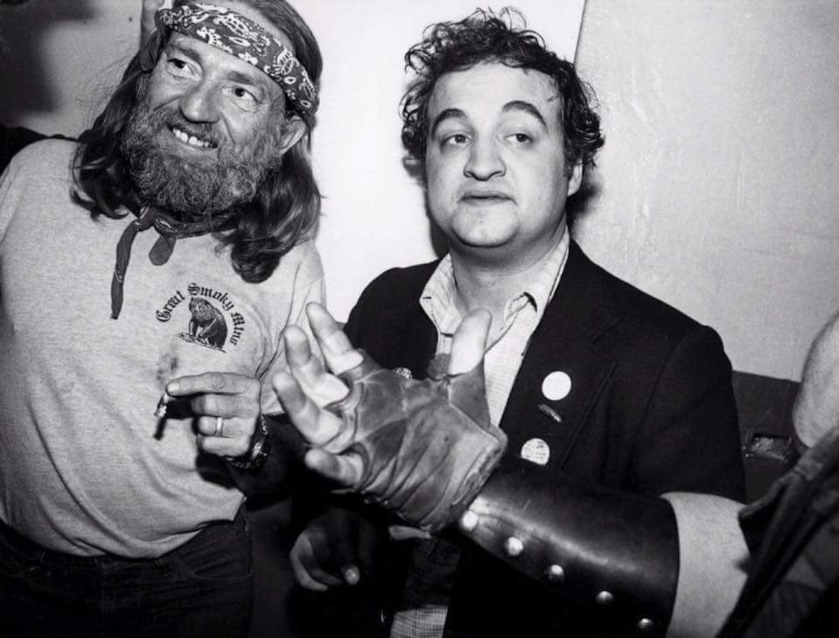 John Belushi and Willie Nelson