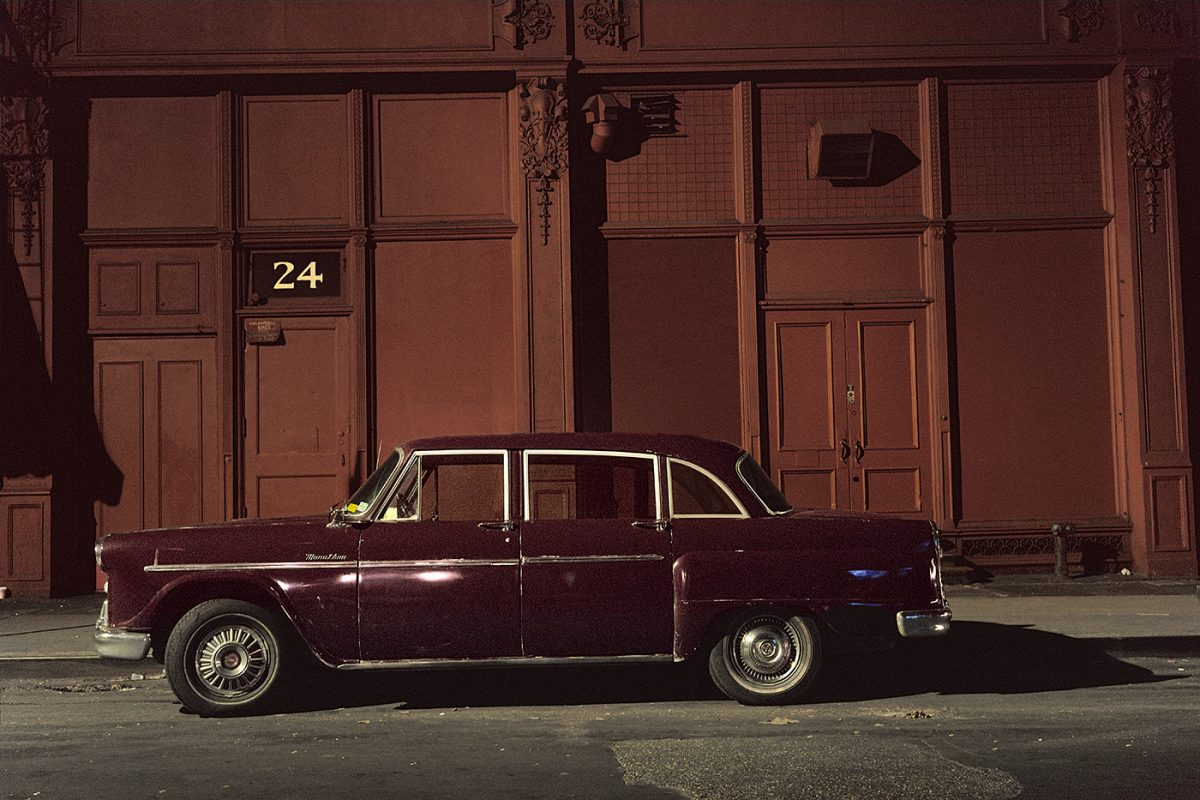 24 Checker car, Checker Marathon, in the Twenties near 6th Avenue, 1975