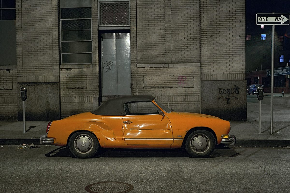 Orange Ghia, Volkswagen Karmann Ghia, west of meatpacking district, 1975