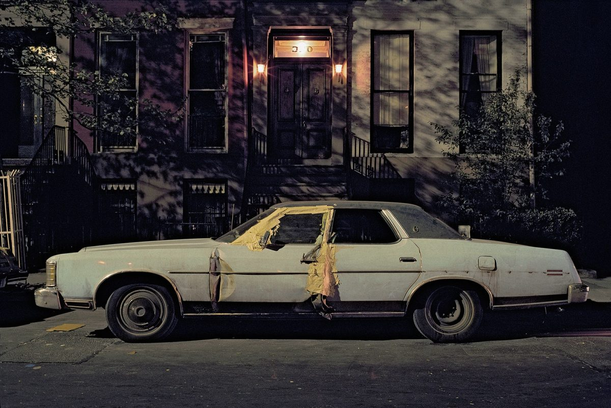Masking-tape car, Brougham, West Village, 1976