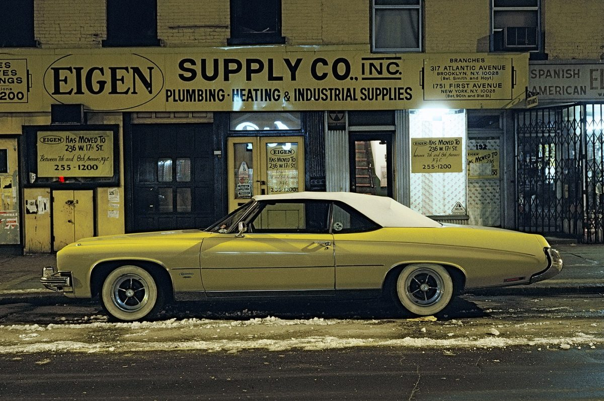 Eigen Supply car, Buick Centurion Convertible, Twenty-fourth Street near Sixth Avenue, 1976