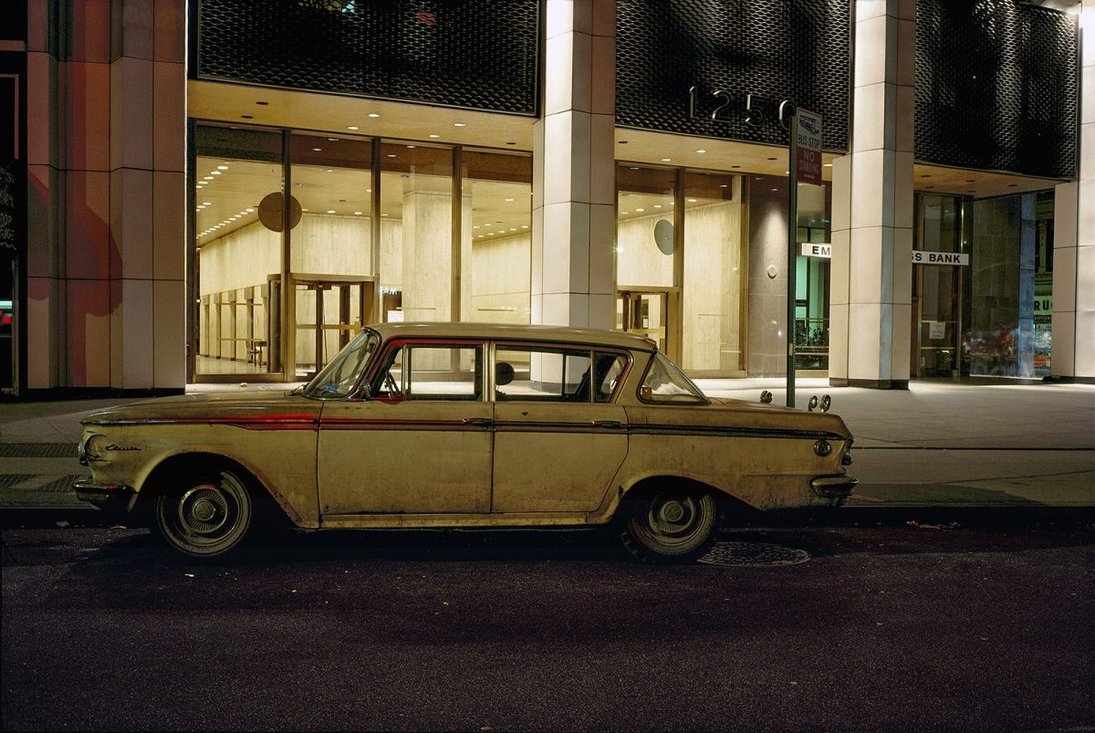 Lobby car, Rambler Classic, 1250 Avenue of the Americas, 1976