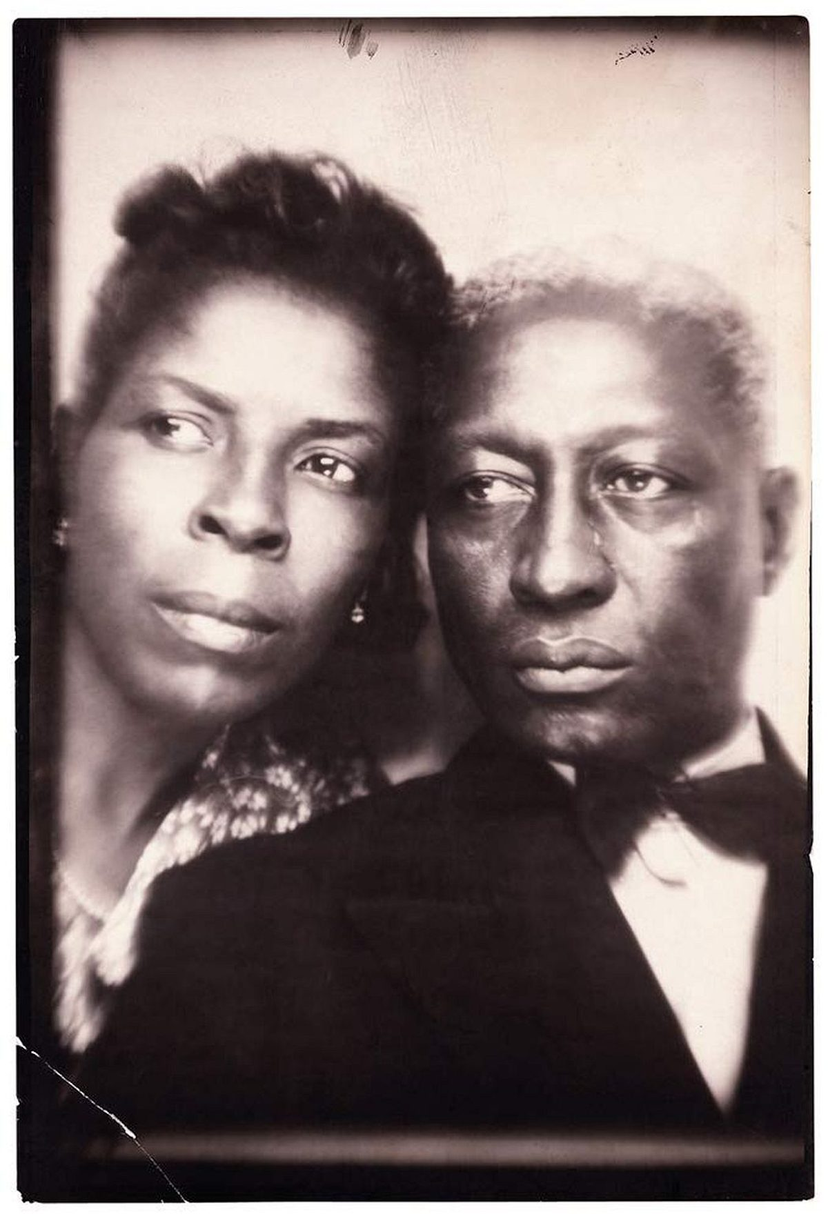 Portrait of Lead Belly and his wife, Martha